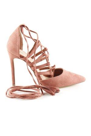 JustFab Lace-up Pumps pink elegant