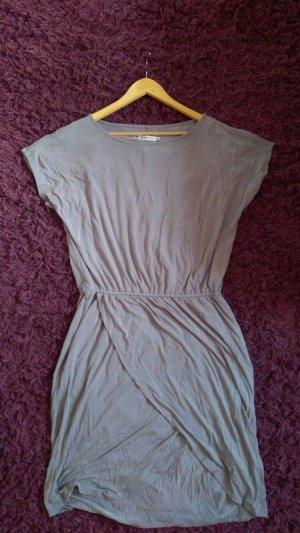 Justfab T-Shirt Kleid in Wickel-Optik grau Gr. M neu