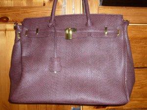JustFab Carry Bag purple imitation leather