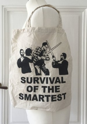 "Jutebeutel mit Slogan ""Survival of the Smartest"""