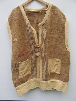 Vintage Chaleco folclórico marrón