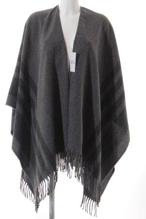 Juvia Cape grau-dunkelgrau Streifenmuster klassischer Stil