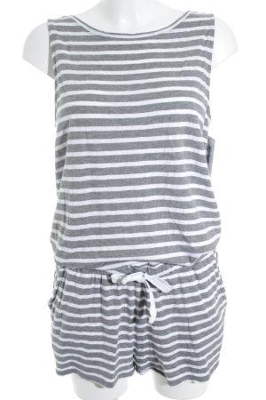 Juvia Jumpsuit weiß-grau Streifenmuster sportlicher Stil