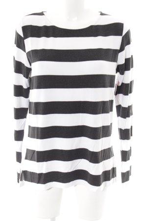 Juvia Pijama blanco-negro estampado a rayas look casual
