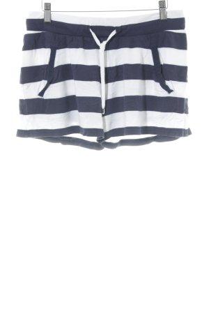 Juvia Shorts weiß-dunkelblau Streifenmuster Beach-Look