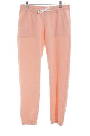 Juvia Pantalon de jogging abricot-blanc molletonné