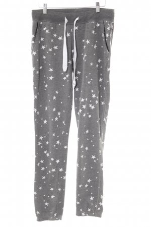 Juvia Sweat Pants dark grey-white star pattern casual look