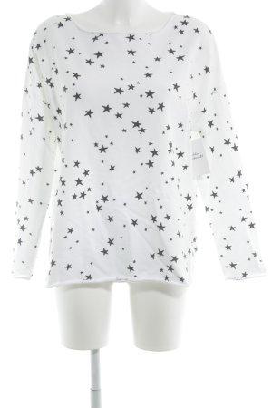 Juvia Sweat Shirt black-white star pattern casual look