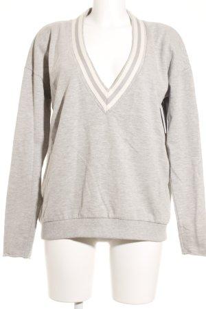 Juvia Sweatshirt wollweiß-hellgrau Casual-Look