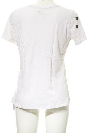 Juvia T-Shirt weiß-schwarz Sternenmuster Casual-Look