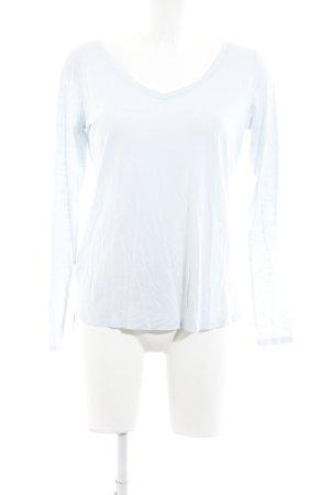 Juvia V-Ausschnitt-Pullover babyblau meliert Casual-Look