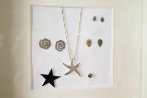 Silver Chain silver-colored-black real silver