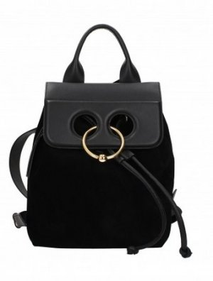 JW Los Angeles Backpack Trolley black leather
