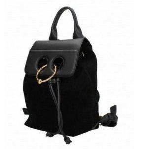 JW Anderson Mini Pierce Rucksack aus Leder und Wildleder in schwarz NEU!!!