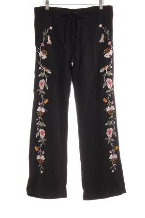 JW Los Angeles Pantalón de lino estampado floral estilo extravagante