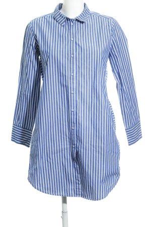 K by.....KappAhl Abito blusa camicia blu acciaio-bianco motivo a righe