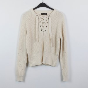 Knitted Sweater pale yellow-white