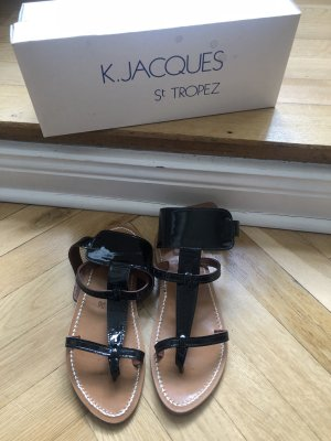 K jacques st tropez Roman Sandals black-light brown leather