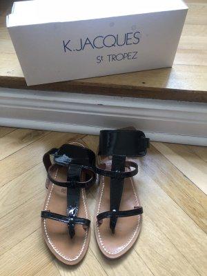 K. Jacques St. Tropez Original Sandalen Lackleder