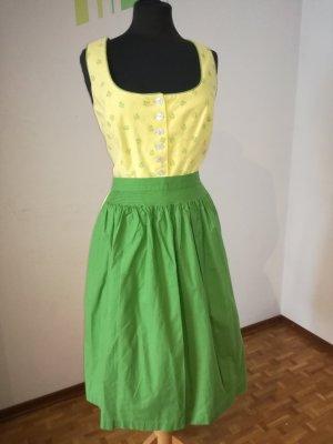 K & K Kaiserjäger Vestido Dirndl amarillo-verde