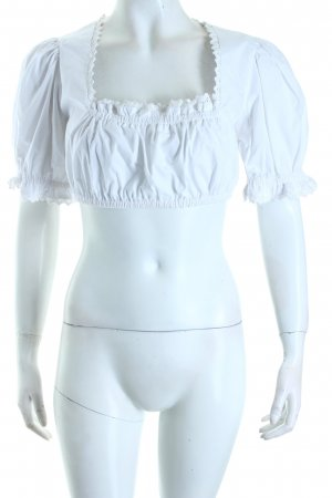 K & K Kaiserjäger Folkloristische blouse wit klassieke stijl