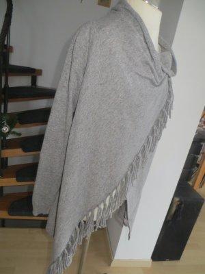 Cool Code Cache-cœur en tricot gris-gris foncé tissu mixte