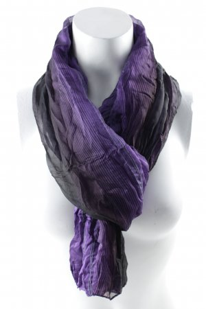 K+S Halstuch lila-schwarz Streifenmuster Casual-Look