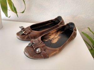 K&S handmade Lederballerinas Troddeln