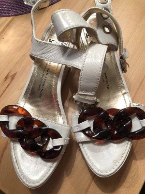 Kennel + schmenger Heel Pantolettes natural white-brown