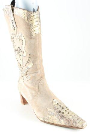 K+S Shoes Absatz Stiefel Animalmuster extravaganter Stil