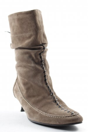 K+S Shoes High Heel Boots light brown casual look