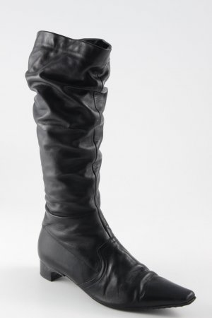 K+S Shoes Schaftstiefel schwarz schlichter Stil