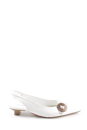 K+S Shoes Slingback pumps wit zakelijke stijl