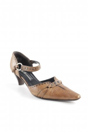 K+S Shoes Spitz-Pumps hellbraun Elegant