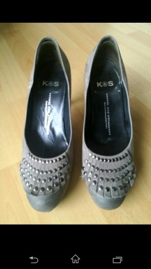 K&S Wildlederpumps Gr. 36 grau