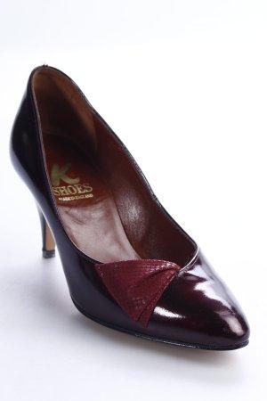 K Shoes High Heels bordeauxrot-dunkelrot Eleganz-Look