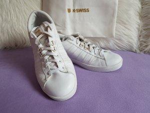K-Swiss Hoke 50th Sneaker Weiß Gold Gr. 42