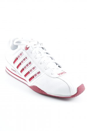 K-swiss Lace-Up Sneaker white-red athletic style