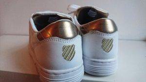 K-Swiss Sneaker Weiß/Gold Courtstyle