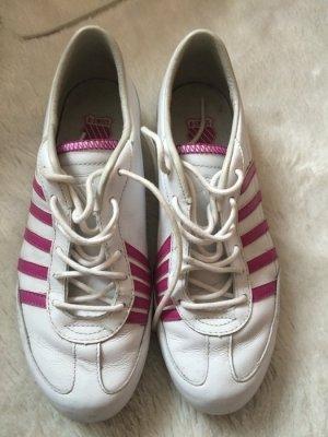 K-swiss turnschuhe sneakers gebraucht damen weiß pink größe 39
