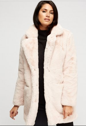 K.Zell Kunstfell Mantel Teddy Coat Faux Fur Coat