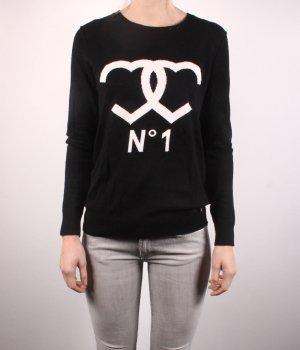 Set Kraagloze sweater zwart-wit Gemengd weefsel