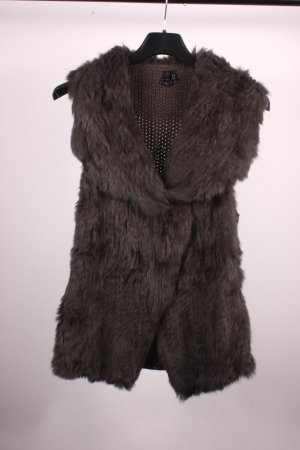 Arma Women Fur vest dark grey fur