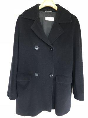 Max Mara Heavy Pea Coat black wool