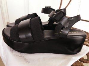 Robert clergerie Platform High-Heeled Sandal black leather