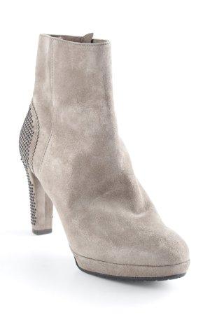 Kämpgen Reißverschluss-Stiefeletten graubraun Street-Fashion-Look