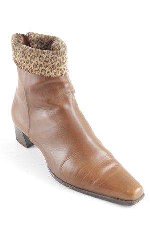 Kämpgen Zipper Booties light brown leopard pattern casual look