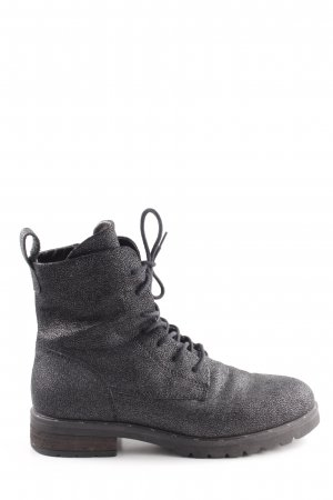 Kämpgen Lace-up Booties silver-colored casual look