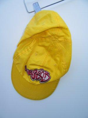 Käppi Vintage Retro Cap gelb