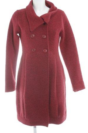Kafé Stigur Manteau en laine rouge foncé style décontracté